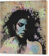 Michael Jackson - Scatter Watercolor Wood Print