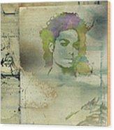 Michael Jackson Silhouette Wood Print