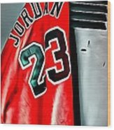 Michael Jordan 23 Shirt Wood Print