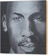 Michael Jordan Wood Print by Aaron Balderas