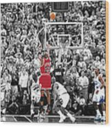 Michael Jordan Buzzer Beater Wood Print by Brian Reaves
