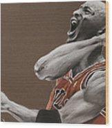 Michael Jordan - Chicago Bulls Wood Print