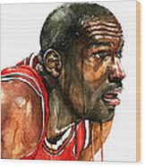 Michael Jordan Early Days Wood Print by Michael  Pattison