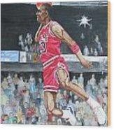 Michael Jordan Wood Print by Freda Nichols