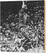 Michael Jordan Gliding Wood Print by Retro Images Archive