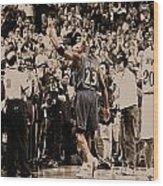 Michael Jordan Last Game II Wood Print