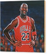 Michael Jordan Wood Print by Paul Meijering