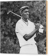 Michael Jordan Playing Golf Wood Print by Retro Images Archive