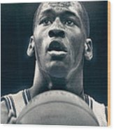Michael Jordan Shots Free Throw Wood Print by Retro Images Archive