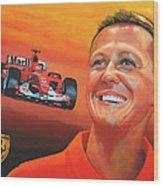 Michael Schumacher 2 Wood Print
