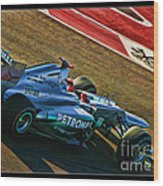 Michael Schumacher Silver Arrows Wood Print
