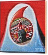 Michael Schumacher Though The Logo Wood Print