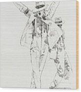 Michael Smooth Criminal Wood Print
