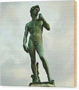 Michelangelo's David 2 Wood Print