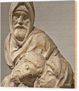 Michelangelo's Final Pieta Wood Print