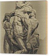 Michelangelo's Florence Pieta Wood Print