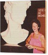 Michelangelos Statue Of David Wood Print