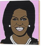 Michelle Obama Wood Print by Jost Houk