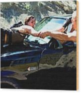 Michelle Rodriguez And Vin Diesel @ Fast To Furious Wood Print