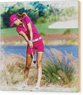 Michelle Wie Plays A Shot On The 6th Hole Wood Print