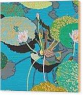 Michelles Secret Pond Wood Print