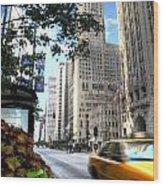 Michigan Avenue Chicago Illinois Wood Print