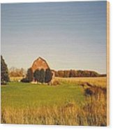 Michigan Barn And Landscape Wood Print