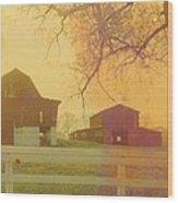 Michigan Barns Wood Print