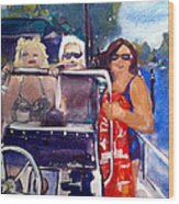 Michigan Boaters Wood Print by Sandra Stone