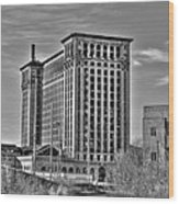 Michigan Central Station Wood Print