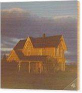 Michigan Farm House Wood Print