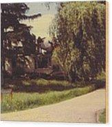 Michigan Farmhouse Landscape Wood Print