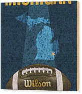 Michigan Football Poster Wood Print
