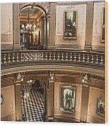 Michigan State Capitol 2 Floors Color Wood Print