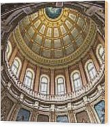 Michigan State Capitol Dome In Color  Wood Print
