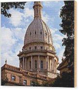 Michigan State Capitol Wood Print