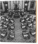 Michigan State House At Capitol  Wood Print