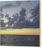Michigan Sunset Wood Print