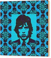 Mick Jagger Abstract Window P168 Wood Print by Wingsdomain Art and Photography