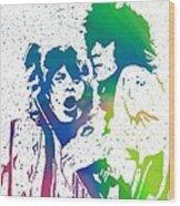 Mick Jagger And Keith Richards Wood Print