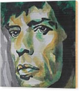 Mick Jagger Wood Print by Chrisann Ellis