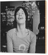 Mick Jagger Laughing Wood Print
