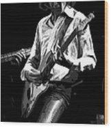 Mick 1977 Art Bw Wood Print
