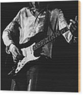Mick Playing Rock Guitar In 1977 Wood Print