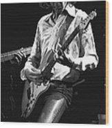 Mick In Flight 1977 Wood Print
