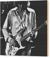 Mick On Guitar 1977 Wood Print