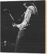 Mick On The Guitar 1977 Wood Print