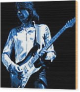 Mick Plays The Blues 1977 Wood Print