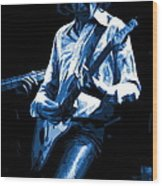 Mick Plays The Blues In Spokane 1977 Wood Print