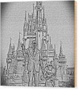 Mickey And Walt At The Park Wood Print